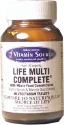 Vitamin Source Life Multi Vitamin & Mineral Supplement